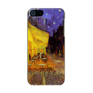 Vincent Van Gogh Cafe Terrace At Night Fine Art Metallic Phone Case For iPhone SE/5/5s
