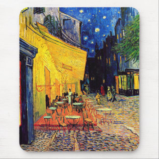 Vincent Van Gogh - Cafe Terrace At Night Fine Art Mouse Pad