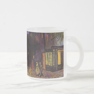 Vincent Van Gogh Cafe Terrace At Night Fine Art 10 Oz Frosted Glass Coffee Mug