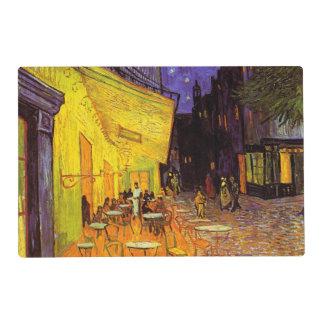 Vincent Van Gogh Cafe Terrace At Night Fine Art Laminated Place Mat
