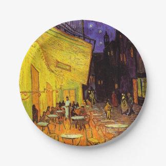 Vincent Van Gogh Cafe Terrace At Night Fine Art Paper Plate