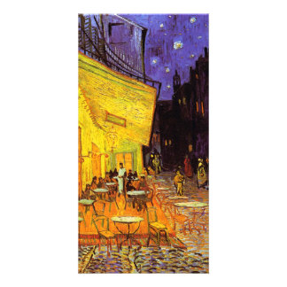 Vincent Van Gogh Cafe Terrace At Night Fine Art Custom Photo Card