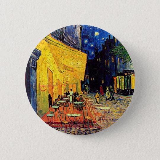 Vincent Van Gogh - Cafe Terrace At Night Fine Art Pinback Button
