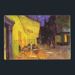 """Vincent Van Gogh Cafe Terrace At Night Fine Art Placemat<br><div class=""""desc"""">Vincent Van Gogh Cafe Terrace At Night Fine Art Vincent Willem van Gogh was a Dutch Post-Impressionist painter whose work, notable for its rough beauty, emotional honesty and bold color, had a far-reaching influence on 20th-century art. His output includes portraits, self portraits, landscapes and still lifes of cypresses, trees in...</div>"""