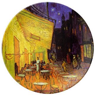 Vincent Van Gogh Cafe Terrace At Night Fine Art Porcelain Plate