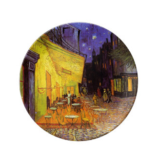 Vincent Van Gogh Cafe Terrace At Night Fine Art Porcelain Plate