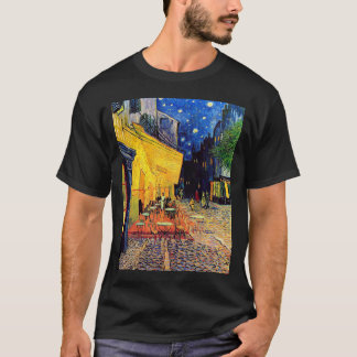 Vincent Van Gogh - Cafe Terrace At Night Fine Art T-Shirt