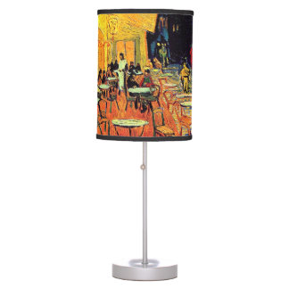 Vincent Van Gogh - Cafe Terrace At Night Fine Art Table Lamp