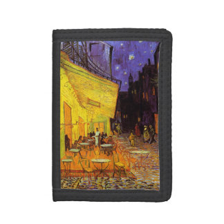 Vincent Van Gogh Cafe Terrace At Night Fine Art Tri-fold Wallets