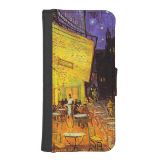 Vincent Van Gogh Cafe Terrace At Night Fine Art Wallet Phone Case For iPhone SE/5/5s