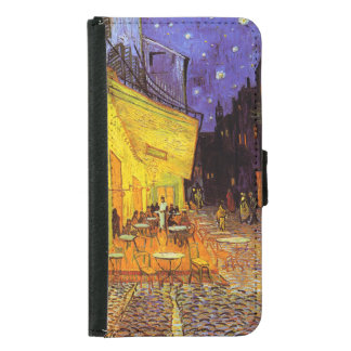Vincent Van Gogh Cafe Terrace At Night Fine Art Wallet Phone Case For Samsung Galaxy S5