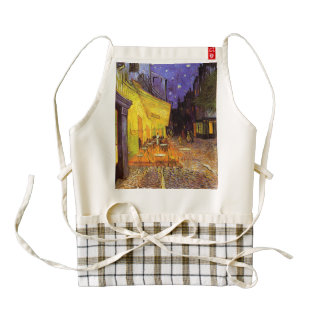 Vincent Van Gogh Cafe Terrace At Night Fine Art Zazzle HEART Apron