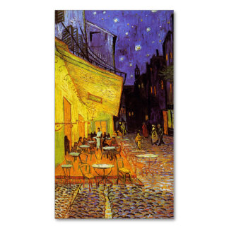 Vincent Van Gogh Cafe Terrace At Night Fine Art Magnetic Business Cards (Pack Of 25)