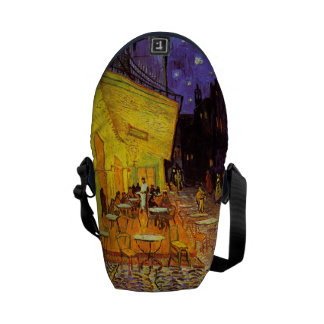 Vincent Van Gogh Cafe Terrace At Night Painting Courier Bags