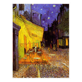 Vincent Van Gogh Cafe Terrace At Night Painting Post Cards