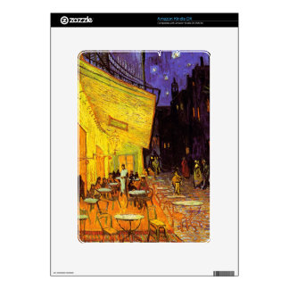 Vincent Van Gogh Cafe Terrace At Night Painting Skin For The Kindle DX