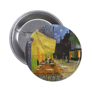 Vincent Van Gogh - Cafe Terrace at Night Pinback Button