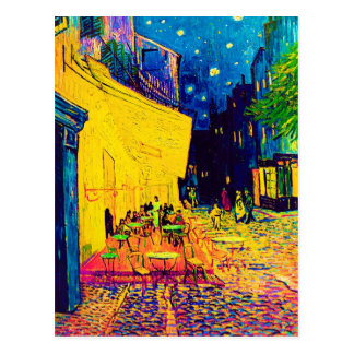 Vincent Van Gogh - Cafe Terrace At Night Pop Art Postcard