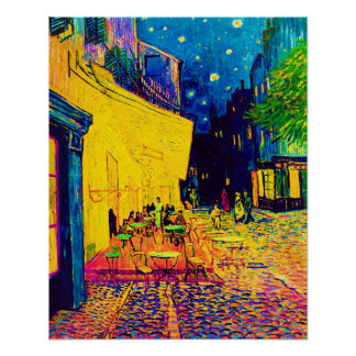 Vincent Van Gogh - Cafe Terrace At Night Pop Art Poster
