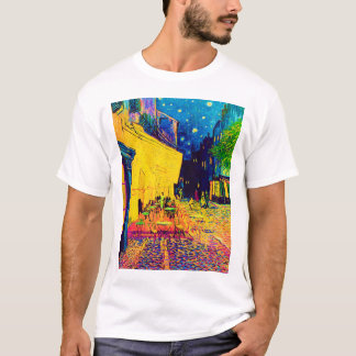 Vincent Van Gogh - Cafe Terrace At Night Pop Art T-Shirt