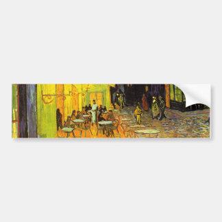 Vincent Van Gogh Cafe Terrace At Night Vintage Art Bumper Sticker