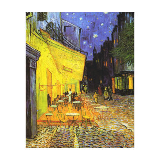 Vincent Van Gogh Cafe Terrace At Night Vintage Art Stretched Canvas Prints