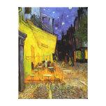 Vincent Van Gogh Cafe Terrace At Night Vintage Art Canvas Print
