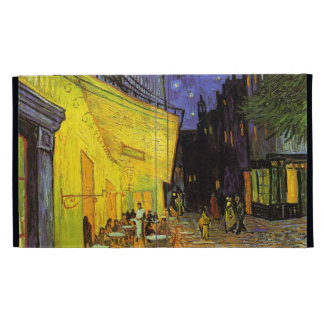 Vincent Van Gogh Cafe Terrace At Night Vintage Art iPad Folio Cases