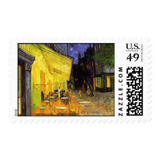 Vincent Van Gogh Cafe Terrace At Night Vintage Art Postage Stamps