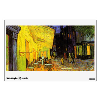 Vincent Van Gogh Cafe Terrace At Night Vintage Art Wall Decal