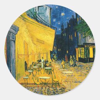 Vincent van Gogh | Cafe Terrace, Place du Forum Classic Round Sticker