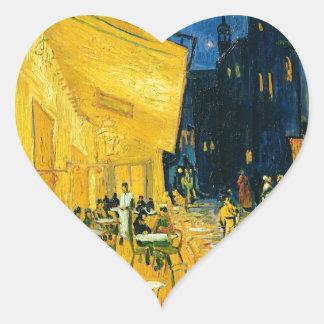 Vincent van Gogh | Cafe Terrace, Place du Forum Heart Sticker