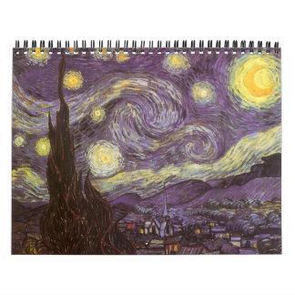 Vincent van Gogh calendario de 18 meses