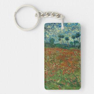 Vincent van Gogh - campo de la amapola Llavero Rectangular Acrílico A Una Cara