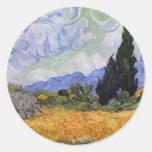 Vincent van Gogh - campo de trigo con los cipreses Etiqueta