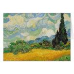Vincent van Gogh - campo de trigo con los cipreses Tarjeta De Felicitación