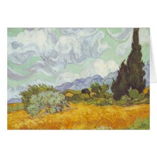 Vincent van Gogh - campo de trigo con los cipreses Tarjeta Pequeña