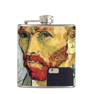Vincent Van Gogh Cellphone Selfie Self Portrait Flask