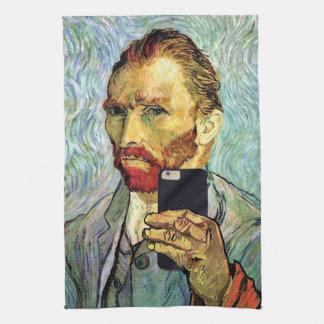 Vincent Van Gogh Cellphone Selfie Self Portrait Hand Towel