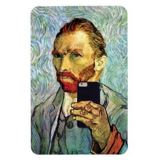 Vincent Van Gogh Cellphone Selfie Self Portrait Magnet