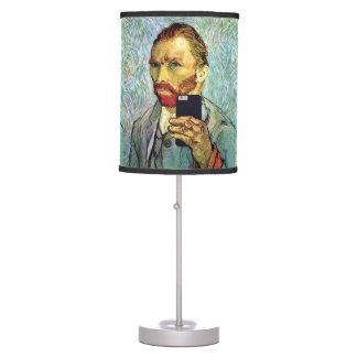 Vincent Van Gogh Cellphone Selfie Self Portrait Table Lamp