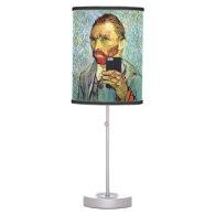 Vincent Van Gogh Cellphone Selfie Self Portrait Table Lamps