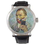 Vincent Van Gogh Cellphone Selfie Self Portrait Wrist Watch