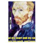 Vincent van Gogh - cita Pizarras Blancas De Calidad