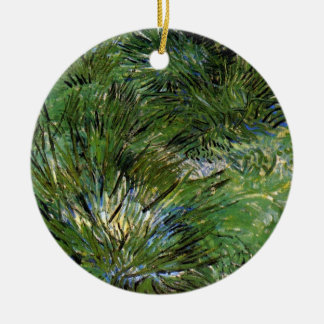 Vincent Van Gogh - Clumps Of Grass Fine Art Ceramic Ornament