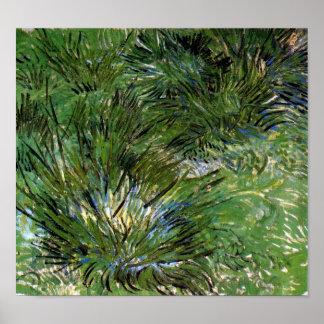 Vincent Van Gogh - Clumps Of Grass Fine Art Poster