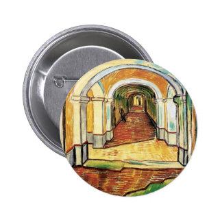 Vincent Van Gogh - Corridor Of Saint Paul Hospital Button