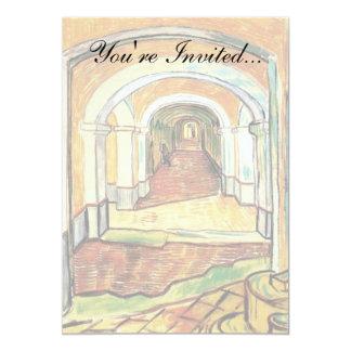 Vincent Van Gogh - Corridor Of Saint Paul Hospital Card