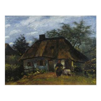 Vincent van Gogh - cortijo en Nuenen Tarjetas Postales