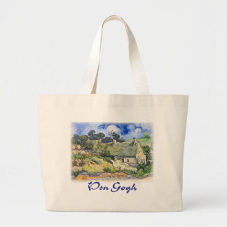 Vincent Van Gogh - Cottages with Thatched Roofs Canvas Bags